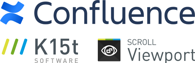 Confluence and Scroll Viewport logo