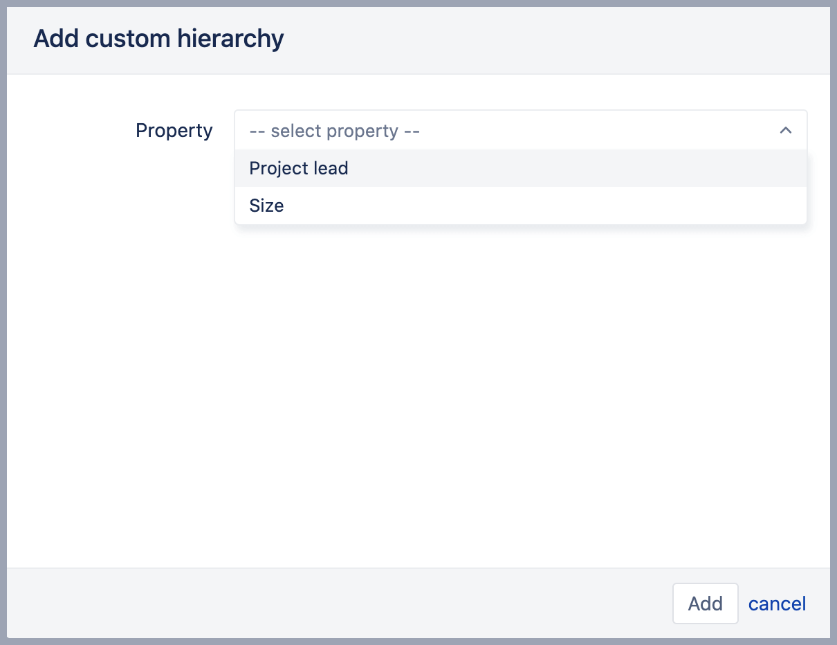 Add custom property hierarchy